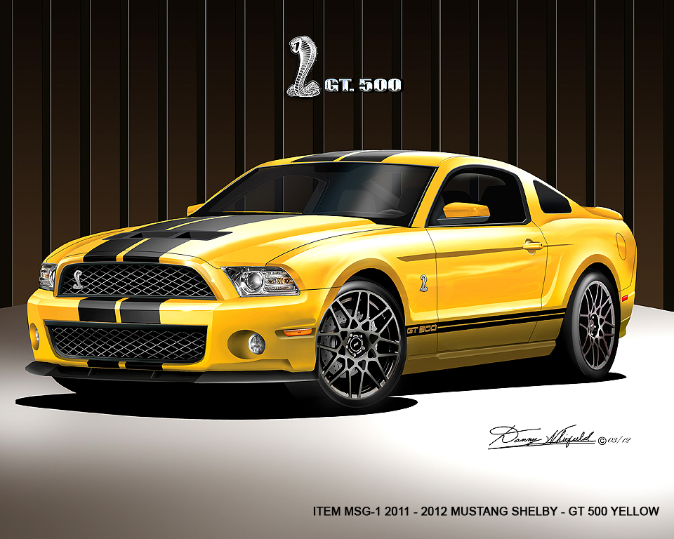 Item Msg Mustang Shelby Gt Yellow