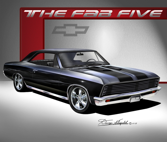 1967 Chevelle Custom Ss The Automotive Art Of Danny Whitefield