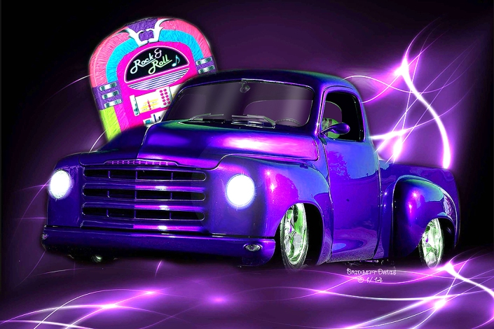 Purple Hotrod Fantasy