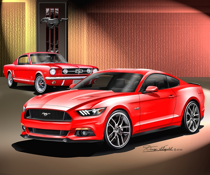 ITEM 16-MGP-10 1965- 2015 FORD MUSTANG GT -  BORN AGIAN