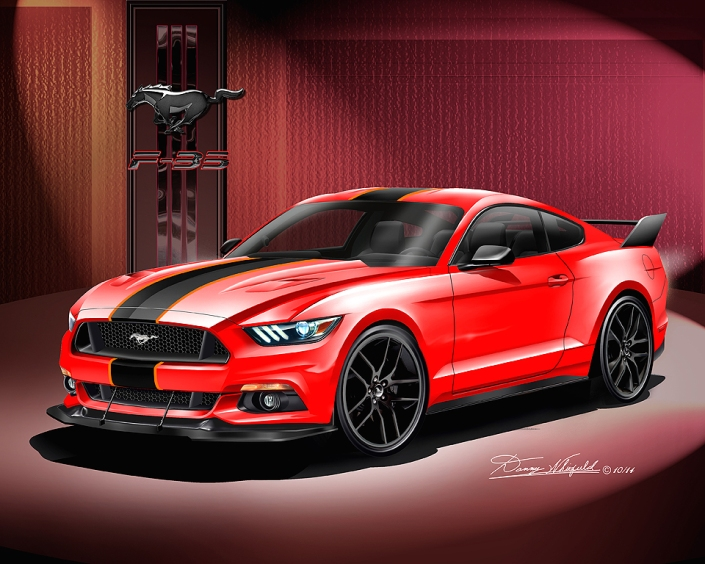 2015 MUSTANG GT ART BY DANNY WHITFIELD