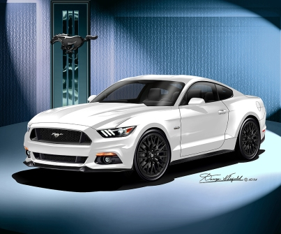 2015 MUSTANG GT PREMIUM FASTBACK ART BY DANNY WHITFIELD