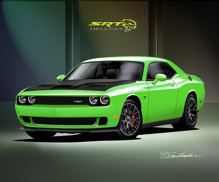 ITEM D-HC-1  2014-2015 DODGE CHALLENGER  HELL CAT - SUBLIME