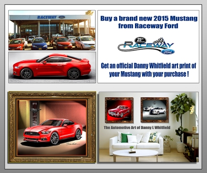 RACEWAY FORD MUSTANG AD POSTER SAMPLE