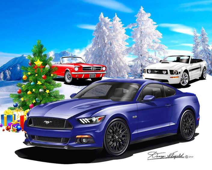 2015 Ford Mustang Say S Merry Christmas And Happy New Year The