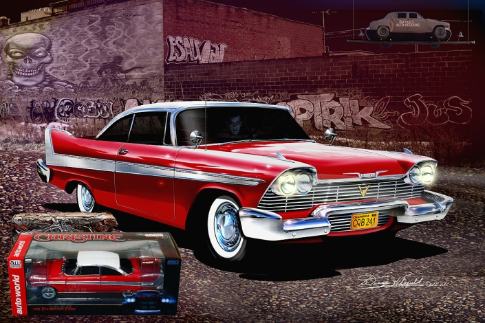 1958 Plymouth Fury - Christine Arnie's Revenge ART PRINY BY DANNY WHITIFELD http://www.dannywhitfield.com/plymouth_fullsize.html