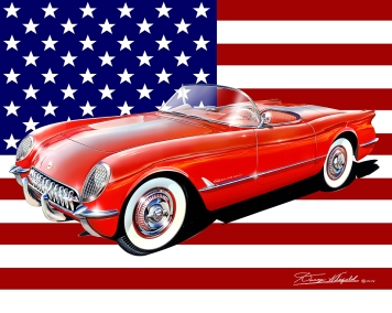 1953- 2015 CORVETTE AMERICAN SERIES ART BY DANNY WHITFIELD