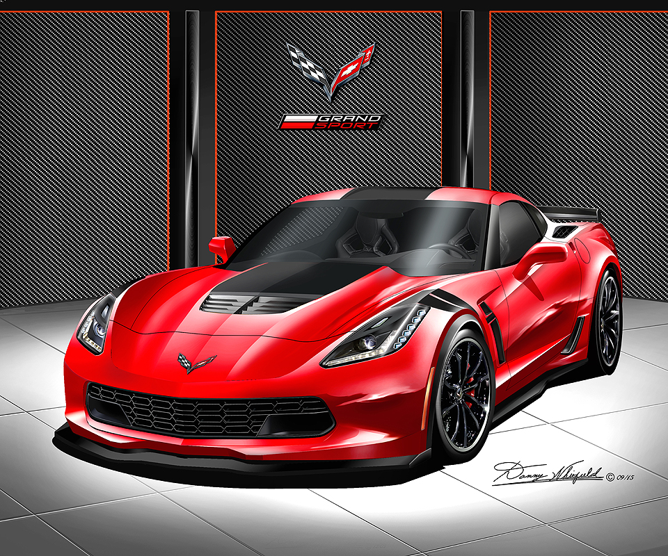 2017 CORVETTE GRAND SPORT ART PRINTS « The Automotive Art ...