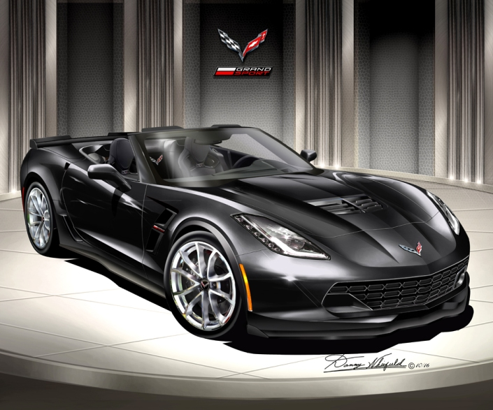 2014 - 2017 CHEVROLET CORVETTE GRAND SPORT ART PRINT BY DANNY WH